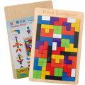 Kids Children Colorful Wooden Puzzle Jigsaw Tetris Intellectual Toys Gifts