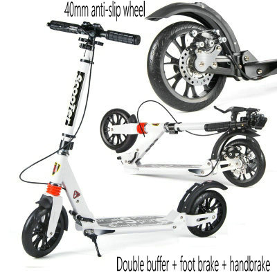 Portable collapsible adult scooters freestyle pedal large round two-wheeled urban campus scooter children/'s entertainment car