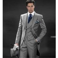 Новое поступление Для мужчин Костюмы Slim Fit две кнопки Жених Смокинги для женихов Для мужчин S костюм дизайнер Пиджаки для женщин Для мужчин S