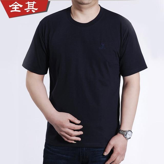 Full men's clothing quinquagenarian men's clothing summer short-sleeve T-shirt gift casual male t