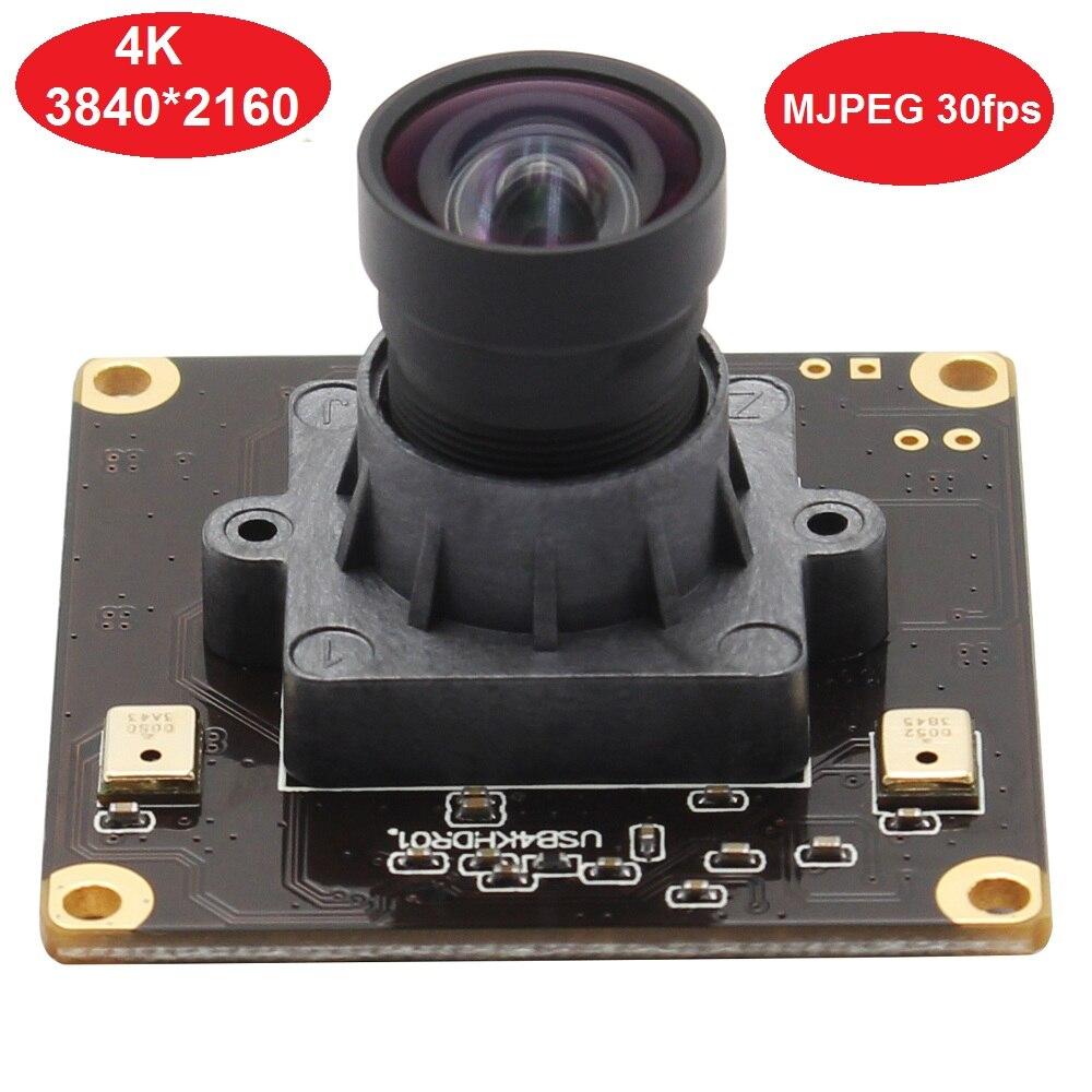 Module de caméra USB 4 K haute fréquence d'images 3840x2160 Mjpeg 30fps Webcam avec capteur CMOS couleur 4 K Pixel SONY IMX317 et sortie USB2.0