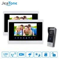 JeaTone 7 Inch HD Unlocking Video Door Phone Intercom Villa 2 Monitor 1200TVL Door Answering 1