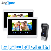 JeaTone 7 Inch HD Unlocking Video Door Phone Intercom Villa 2 Monitor 1200TVL Door Answering 1