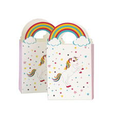 50pcs Unicorn Rainbow Paper Candy Box Wedding Decoration Delicate Candy Boxes Chocolate Gift Treat Boxes Wedding Party Favor(China)