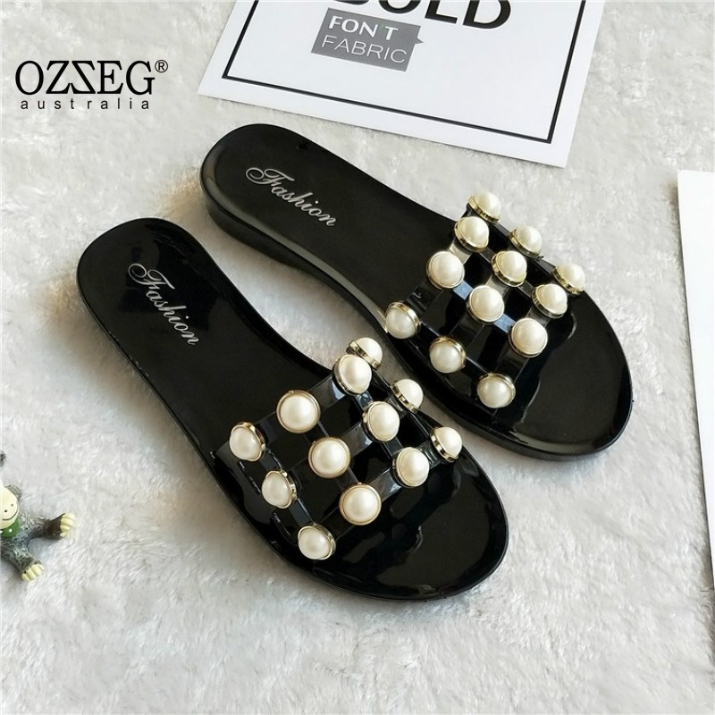 2018 Summer Slippers Woman Shoes Flat Fashion Lady Sandals Slippers Womens Zapatos Mujer Ladies Slip on Sliders Home Slippers