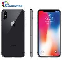 Оригинальный Apple iphone X Face ID, 3 Гб оперативной памяти, Оперативная память 64 Гб/256 ГБ Встроенная память 5,8 дюймов 12MP шестиядерный iOS A11 двойная зад...