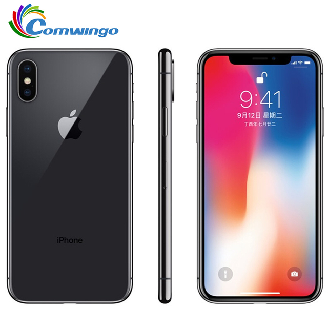 هاتف ابل ايفون اكس الاصلي ID 3GB RAM 64GB/256GB ROM 5.8 inch 12MP Hexa Core iOS A11 كاميرا خلفية مزدوجة 4G LTE اي فون X