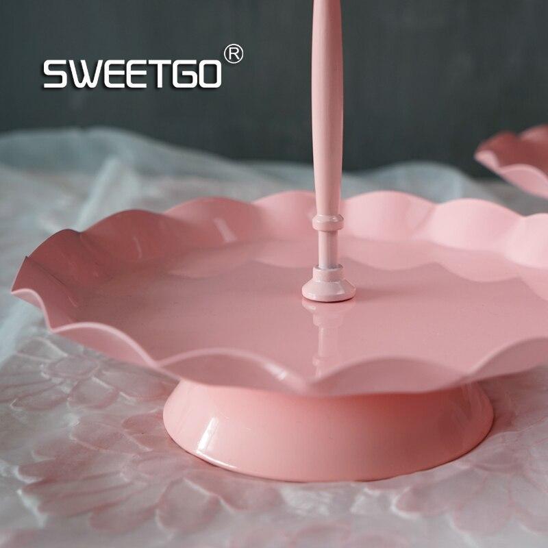 SWEETGO Wave edge cupcake stendas 2/3 pakopų tortų dėklas - Virtuvė, valgomasis ir baras - Nuotrauka 5