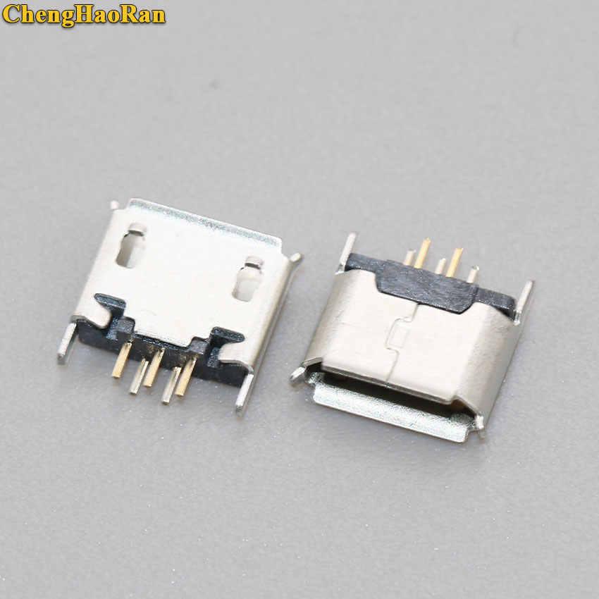 Chenghaoran Mikro Mini USB 5pin Wanita Kursi 180 Derajat Jack 5 P Langsung Plug-In Konektor USB Mini