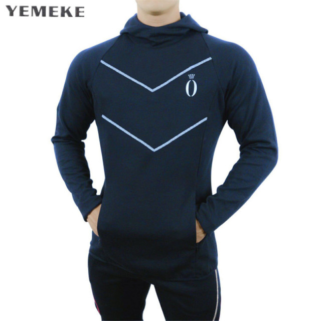 82fcd5585 YEMEKE hoodie Men Letter printing Casual Sweatshirt fashion Mens hoodies  2018 brand Autumn Winter Cotton pullover male hoody