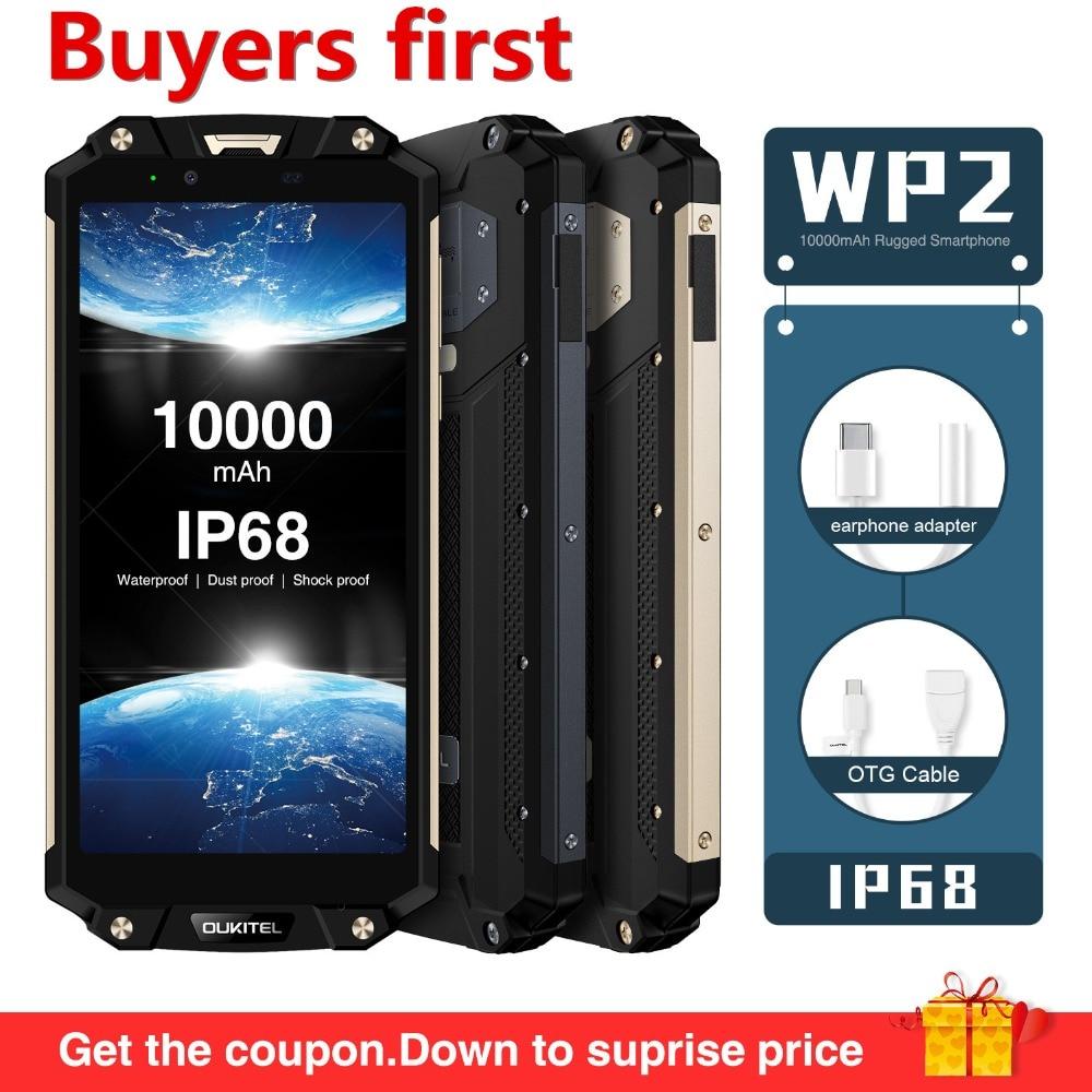Oukitel WP2 NFC IP68 Waterproof 18 9 6 0 FHD10000mAh mobile phone Android 8 0 4GB