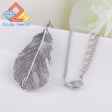 Occident Takahashi Goro Goros Titanium Jewelry Necklaces 316L Stainless Steel Feather & Pendants For