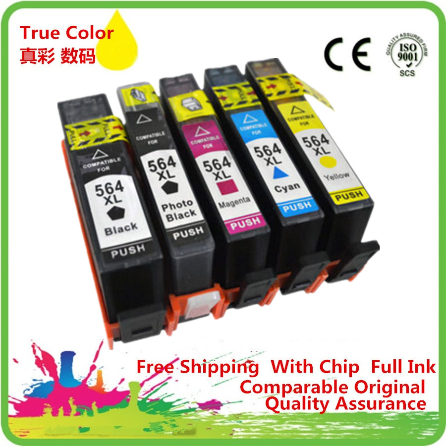 Replacement <font><b>564</b></font> <font><b>XL</b></font> 564XL Ink Cartridge Replace For HP564XL HP564 Photosmart D5445 D5460 D5463 D5468 C5324 C5370 image