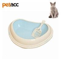 Petacc Cute Heart Shape High Quality Cat Litter Box Anti Bacterial Pet Litter Pan Detachable Kitten