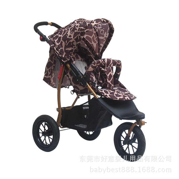 Europe Baby Tricycle Can Lie and sit Baby Stroller Full Inflatable Wheels Three Wheeled Slow Car Baby Stroller light foldable baby stroller 3 in 1 cozy can sit and lie lathe umbrella car stroller carry bag 4 colour three wheels single seat