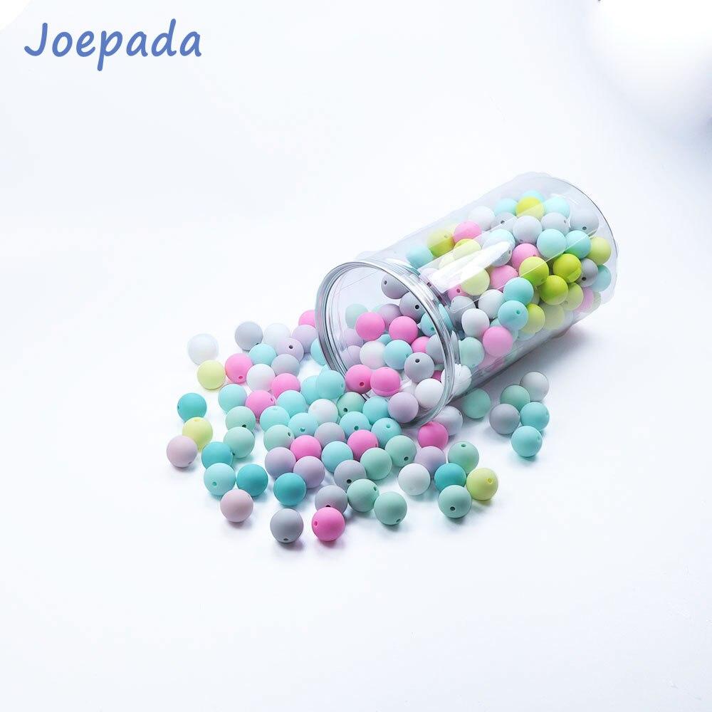 Купить с кэшбэком Joepada 10Pcs Silicone Beads 9mm Food Grade Baby Teething Necklace Pacifier Clips Mom Nursing DIY Jewelry Baby Teether Toys