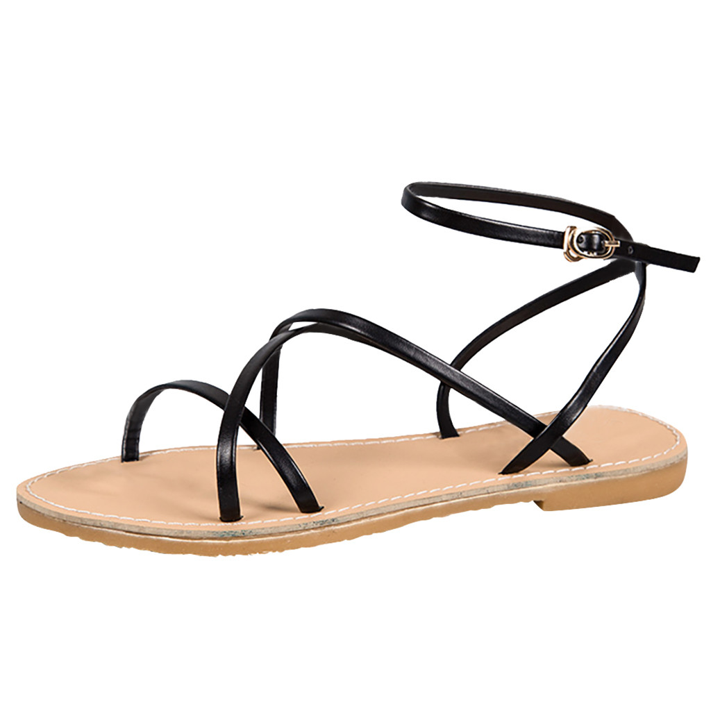 SAGACE Casual Simple Women Bohemia Flat Rivet Sandals Ladies Holiday Beach Peep Toe Rome Style Open Toe Buckle Strap Shoes 2019SAGACE Casual Simple Women Bohemia Flat Rivet Sandals Ladies Holiday Beach Peep Toe Rome Style Open Toe Buckle Strap Shoes 2019