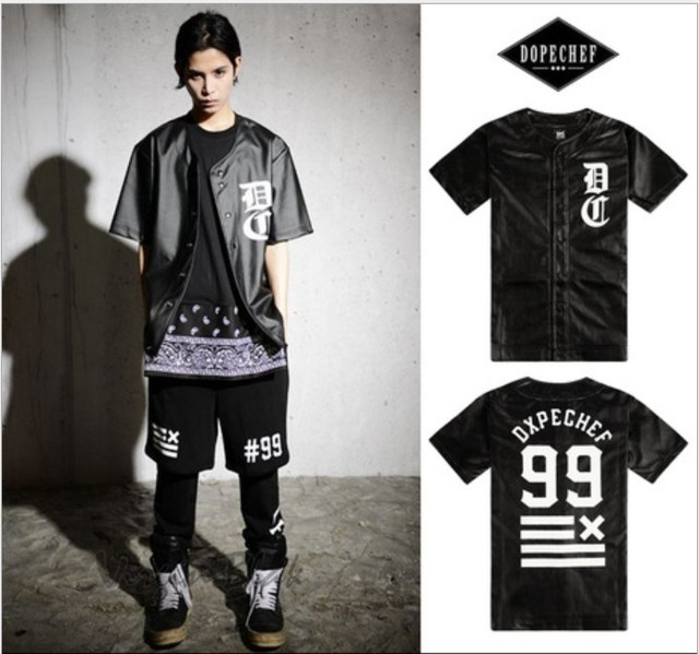 09f273a32ea 2015 t shirt men t shirt hip hop faux leather baseball jersey tshirt brand  streetwear dxpe chef cardigan
