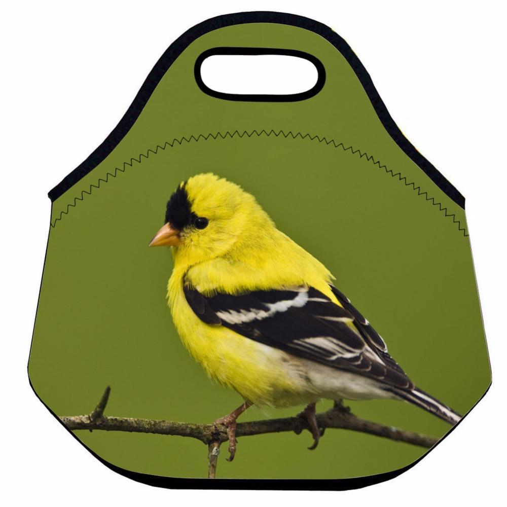 Cute Bird Lunch Bag for Kids and Women, Animal Insulated Lunch Bag, Neoprene Thermal Lunch Bag, School Lunch Picnic Food Bag