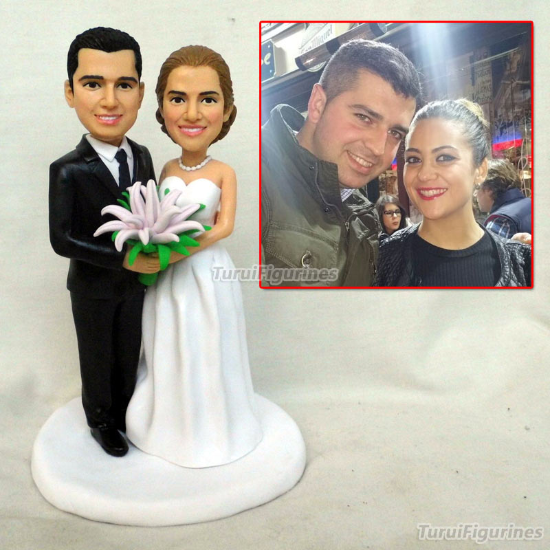 US $154 85 5% OFF|Custom Golf Bobbleheads wedding cake topper best Friend  Gift Sports Gifts Fathers Day Golf For Dad Personalized Golf Gifts-in Party