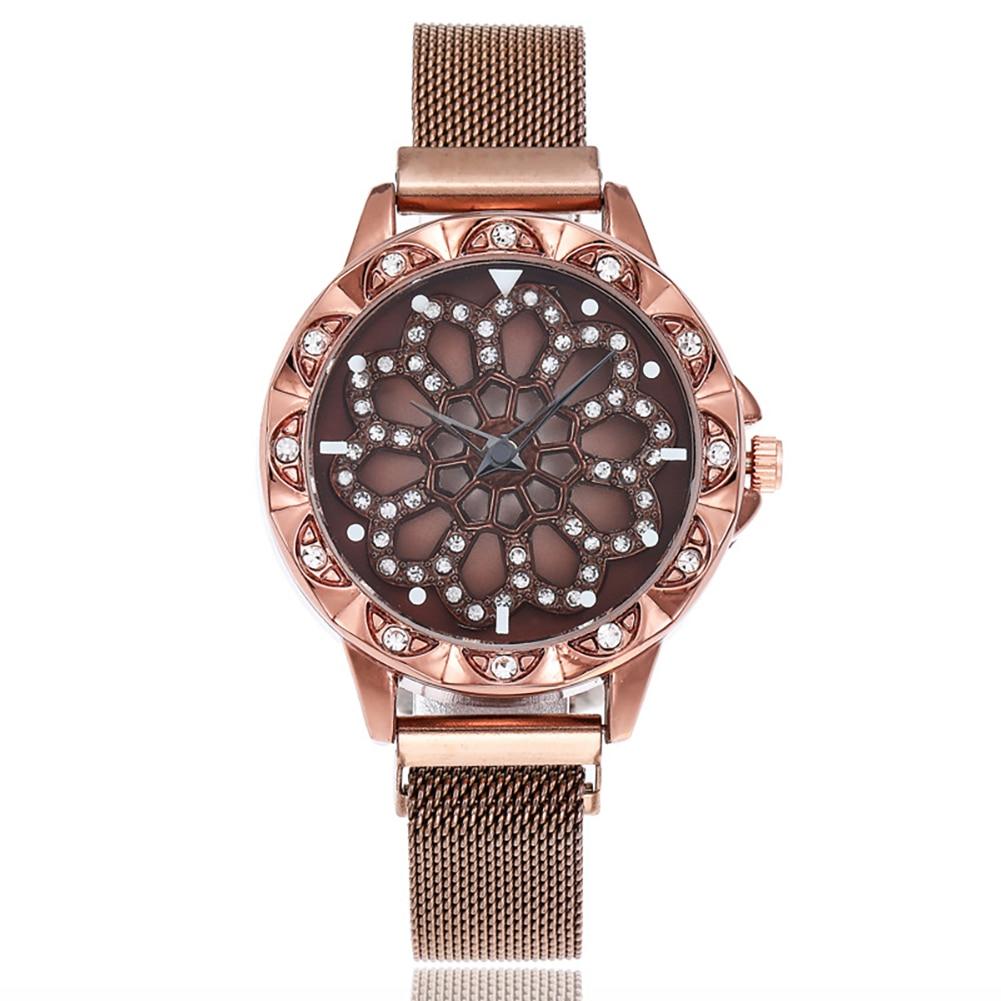 360 Degree Rotation Fashion Watch Magnet Starry Sky Wristwatch Geometric Quartz Watches Openwork Disk Rotating Watch New