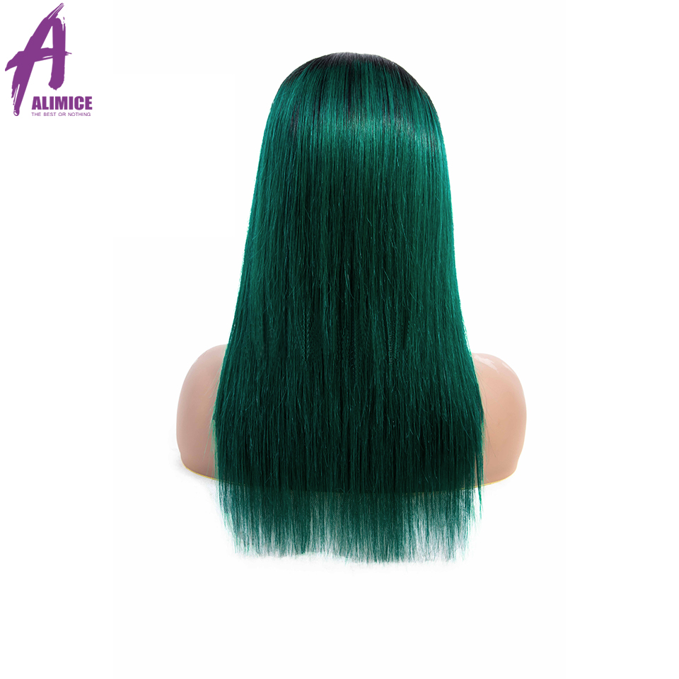Alimice 180% Density Lace Front Human Hair Wigs Remy PinkGreenRedBlueOrange Brazilian Straight Lace Wigs With Pre Plucked (22)