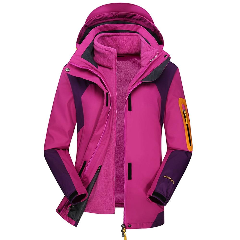 Cappotto Di Pink A Invierno Antivento Delle Esterno hot Mujer Youyedian purple Del red Pezzi Cappuccio Donne Set Blue Due 2019 Con Caldo Abrigos Inverno Impermeabile qxCEwUB