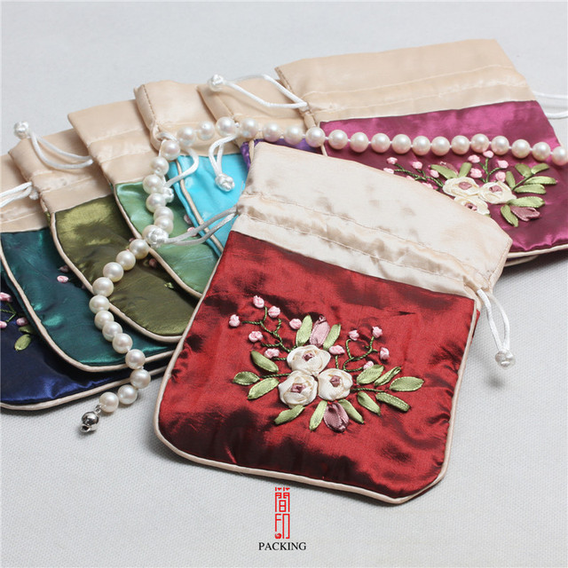 6pcslot Bag Gift Classic Chinese Embroidery Jewelry Bag Storage