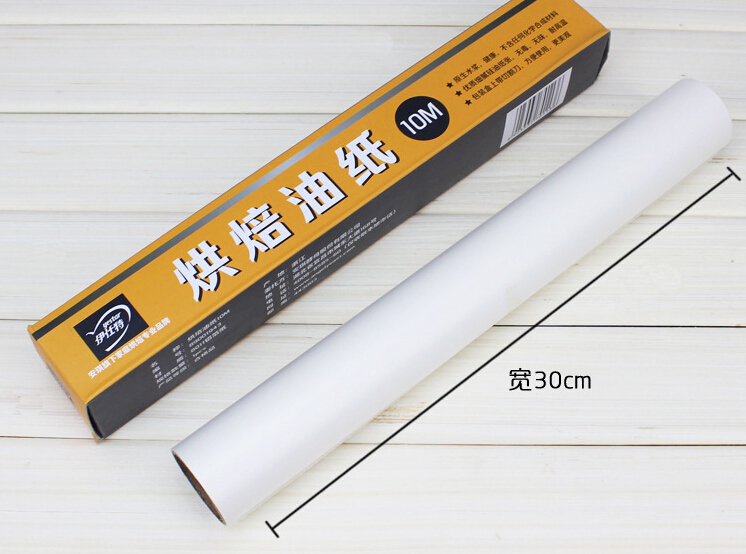 Hot Oil On Paper Greaseproof Paper Baking Paper 10m Double Silicone Tape SawtoothA880