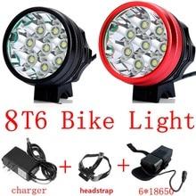 8T6 света 12000 люмен 8 xCree XML T6 лампы из светодиодов фар велосипед с 8.4 В 18650 8800 мАч аккумулятор + зарядное устройство