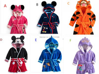 Free Shipping Children Pajamas Robe New Kids Micky Minnie Mouse Bathrobes Baby Cartoon Home Wear Retail