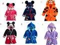 Envío Libre Los Niños Pijamas Robe New Kids Micky Minnie Mouse Albornoz Bebé de la Historieta Home Desgaste Menor