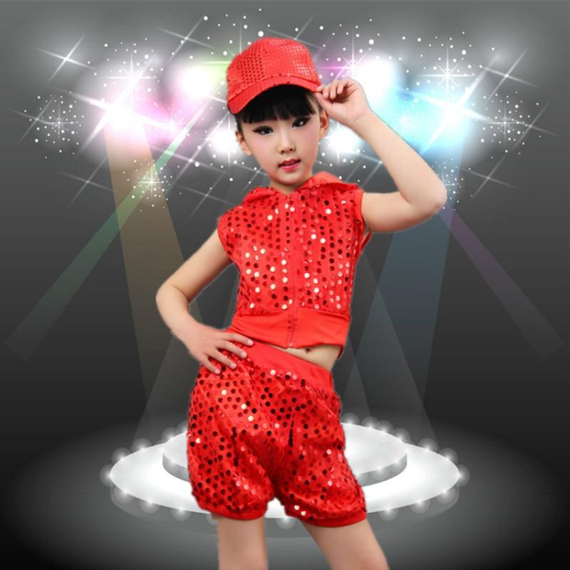 International Children's Day children's costumes boys girls jazz dance performance kids sequins modern hip-hop clothing sets