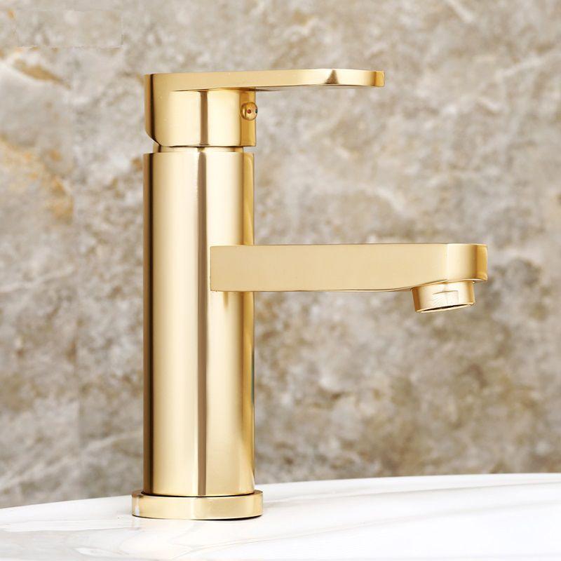 HTB1gjCscL1H3KVjSZFHq6zKppXaT Luxury Bathroom Basin Faucet Space Aluminum Cold and Hot Water Mixer Tap Deck Mounted Single Handle Crane Washbasin Sink Faucet