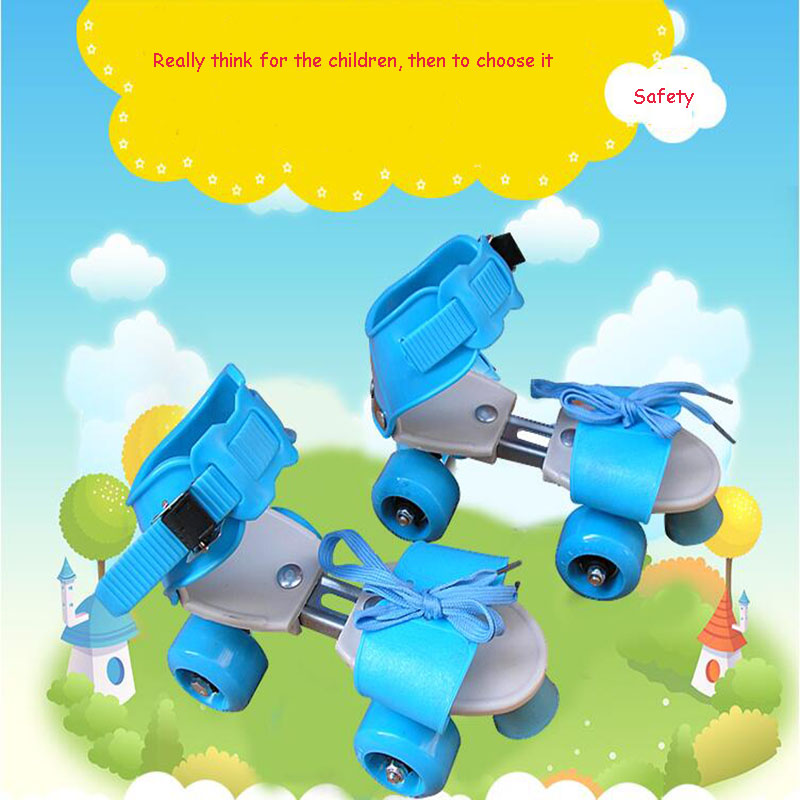 Adjustable Size Children Roller Skates Double Row 4 Wheels Skating Shoes Sliding Slalom Inline Skates Kids Gifts