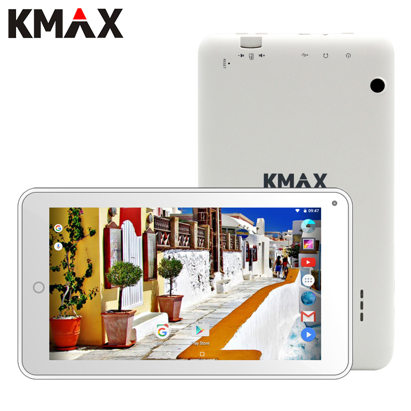 KMAX 7 inch IPS CPU Android 7.0 Tablet Quad Core Dual Cameras Bluetooth WIFI PC Tablets 16GB ROM 1024*600 Google Tablet