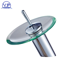 ФОТО yaopeng  copper waterfall creative art faucet hot and cold mixer bathroom brass body tap single holder single hole taps