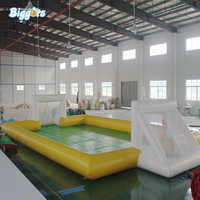Soap Stadium inflatable water soccer field inflatable football field with