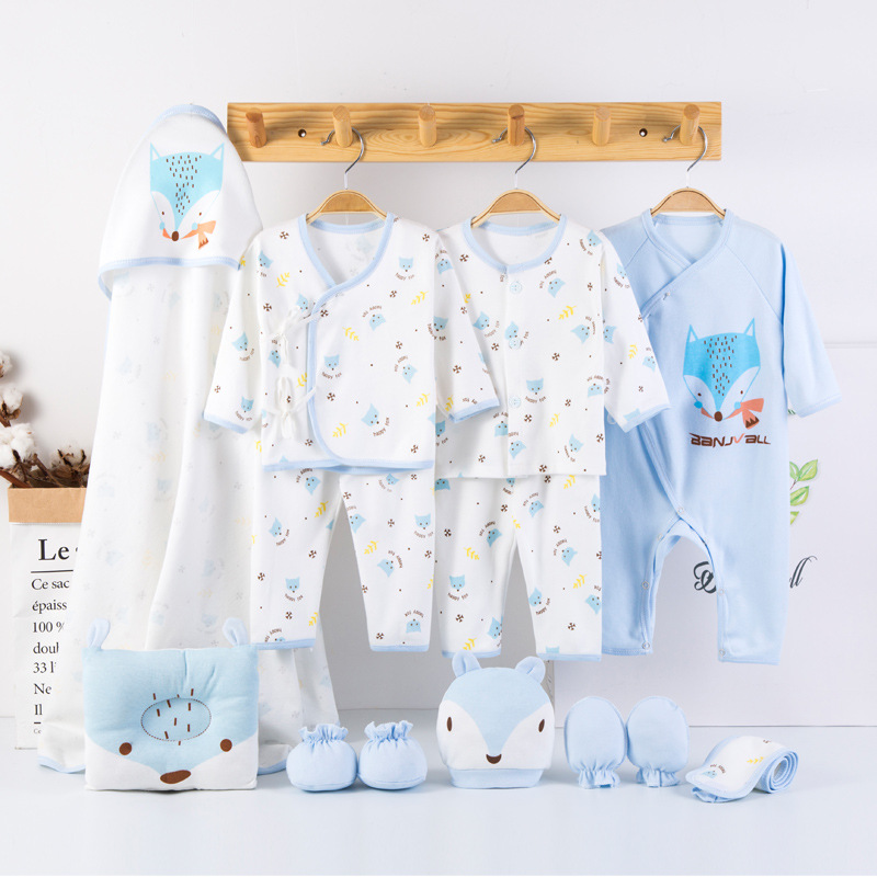 Cartoon Fox Baby Boy Clothes Newborn Clothing For Baby Girl Set Soft Cotton Toddler Infant Clothes New Born Gift 13 Pcs/Set