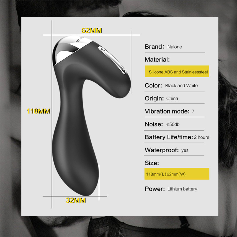 Nalone Wireless Remote Prostate Massager 7 Vibration Mode Waterproof Silicone Vibrators Sex Toys For Women Couple Erotic Toys levett caesar prostate massager for 360 degree rotation g spot
