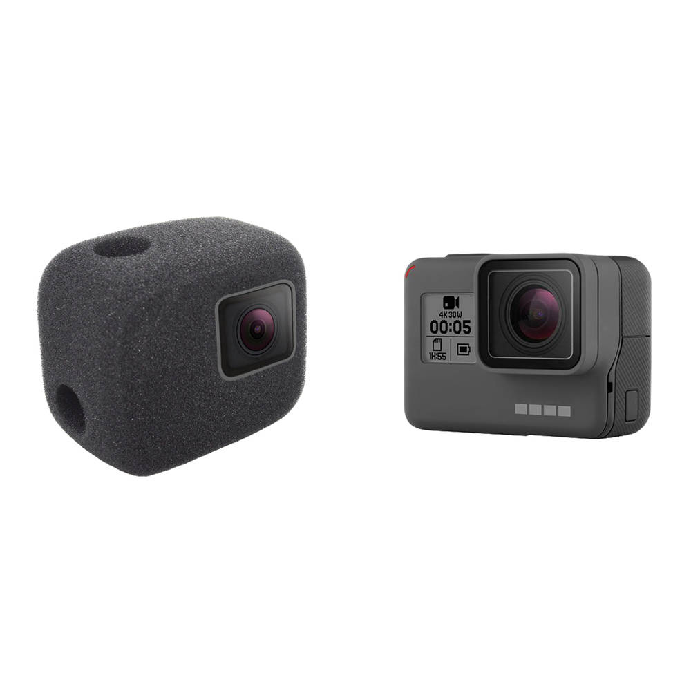Wind Noise Reduction Sponge Foam Cover for Gopro Hero 5 6 session Windproof Case Black Sport Camera Accessories