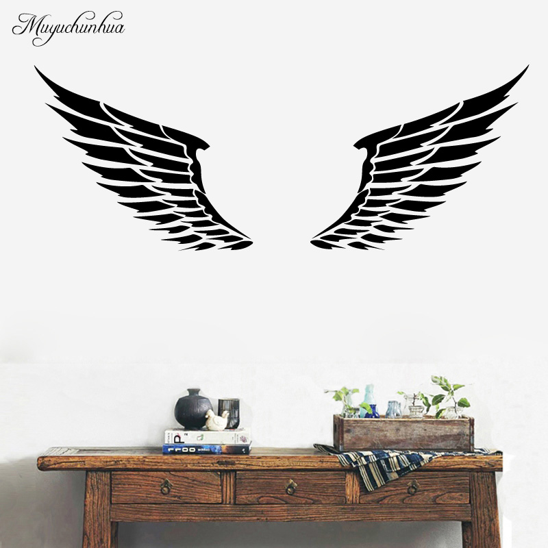 Muyuchunhua giant wings wall design stickers home - Stickers decorativos para paredes ...