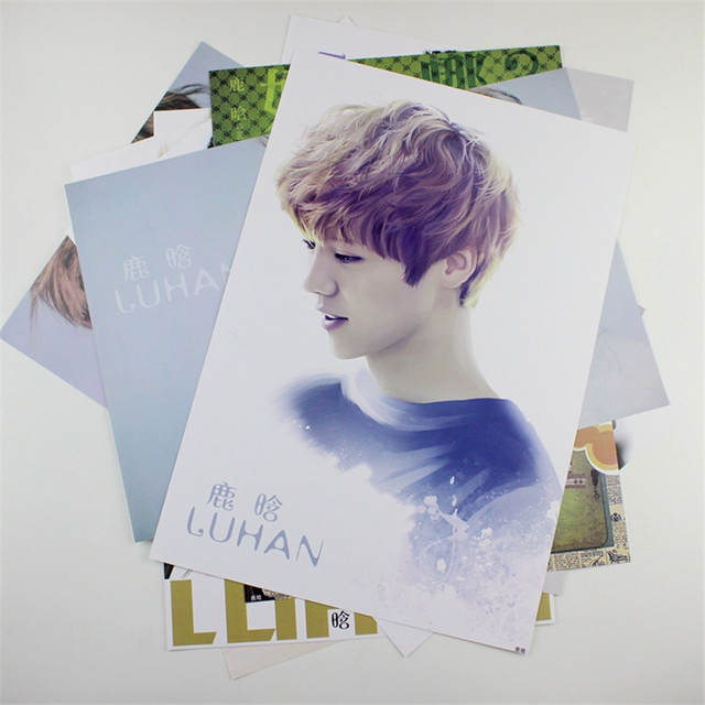 8 42x29cm Exo Luhan Poster Wall Decoration Korean Celebrity