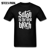 Summer Style Cool Shirts Satan Is The New Black No 4 White Man Pre Cotton Short