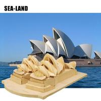 3D Diy Wooden Puzzles Games Toys For Children The Sydney Opera House Puzzle Montessori Toy Challenge Wisdom Hobby Gift For Adult