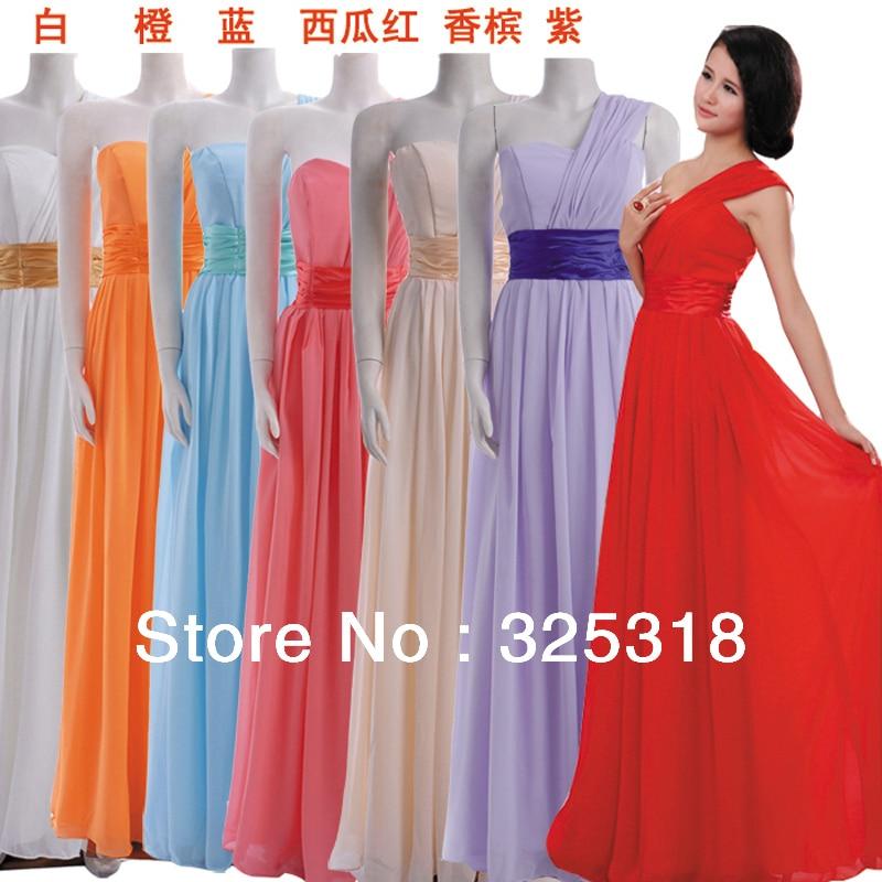 Free Shipping Prom Dresses Light Purple Chiffon Wedding Party Dress