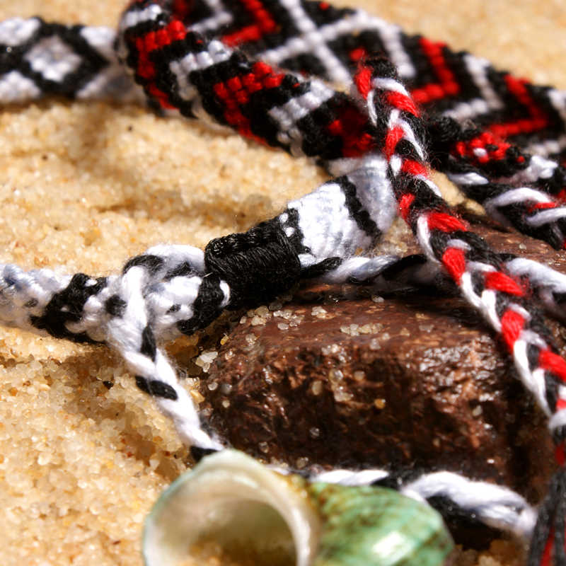 MOON GIRL pulseras de la amistad de tejido a mano bohemio para mujer, pulseras elegantes trenzadas Unisex a la moda para mujer, joyería de pareja Dropship