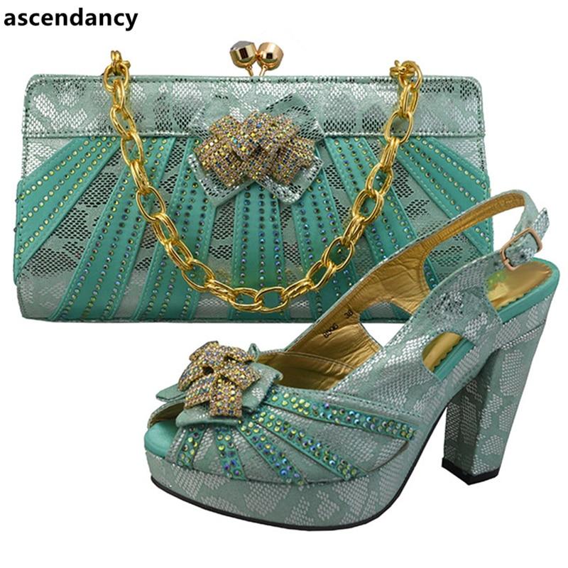 Avec Green Italiennes Dames fuchsia Sacs De Décoré Strass Assorties Chaussures Italien Gold lake Nouveau Couleur Et À Fuchsia Ensemble gwUP478