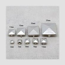 Серебряные пирамиды когти rviets для кожи Квадратные запонки и шипы для одежды tachuelas y remaches punk remaches para cuero
