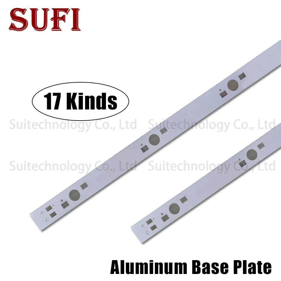 1W 3W 5W LED Aluminum Base Plate 130mm 150mm 300mm 400mm 500mm PCB Board For 3 4 5 6 7 8 10 12 15 30 50 60 100W Watt Light Beads